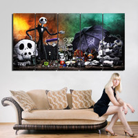 Wholesale HD Pieces jack Night before christmas Painting Canvas Wall Art Picture Halloween Home Decoration Living Room Canvas Print Painting