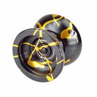 черный йойо оптовых-LeadingStar Magic Yoyo N11 алюминиевый сплав профессиональный йо-йо йо-йо игрушка (черный с золотым) zk30