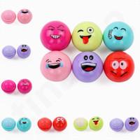 Wholesale moisture lipsticks online - Hot Sale Color QQ Expression Spherical Lipstick Moist Lasting Moisture Fruity Ball Lip Balm Emoji Lip Balm T7F002