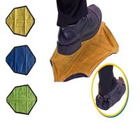 Wholesale step covers - New Step in Sock Reusable Shoe Cover One Step Hand Free Sock Shoe Covers Durable Portable Automatic Shoe Covers DDA139