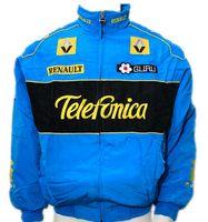 Wholesale renault man for sale - Women and men s F1 automobile race motorcycle driver windproof Renault zipper jacket car logo motor jacket