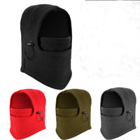 Wholesale balaclava fleece mask for sale - 2018 NEW in Thermal Fleece Balaclava Outdoor Ski Masks Bike Cyling Beanies Winter Wind Stopper Face Hats