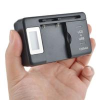 universal-ladegerät lcd großhandel-EU / US / UK Universal-LCD-Bildschirm USB-AC-Telefon Akku Li-Ion Home Wand Dock Reise-Ladegerät