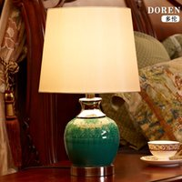 Wholesale Chinese Style Table Lamps - TUDA 28X46.5cm Free Shipping Chinese style Decorative Ceramic Table Lamp Creative Classical Ceramic Vase Table Lamp E27