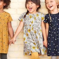 hayvan giyimli bebek kıyafetleri toptan satış-Yaz Kız Elbise Unicorn Hayvanlar Toddler Parti Elbise Avrupa Amerikan Tarzı Bebek Kız Giysileri toptan Elbise