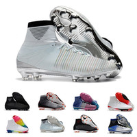 aa79855b5 2019 New Mens Soccer Cleats Mercurial Superfly V SX Neymar FG Soccer Boots  Mercurial Superfly V CR7 FG Men Football Boots High Ankle Shoes