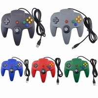 controlador de juego por cable para ps2 al por mayor-Nueva llegada para N64 Wired USB Controller Para Gamecube Juegos USB Wired Gamepad