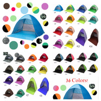 Wholesale red tube game - Automatic Open Tent Instant Portable Beach Tent Shelter Mini Hiking Camping Anti-UV Family Easy Open Camping Tents