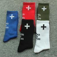meias de futebol de algodão venda por atacado-Lugares + Rostos Meias Esportivas Moda Homens Mulheres 100% Algodão Meias Meias de Futebol Meias de Basquete Futebol YH0108