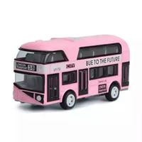 london-modell großhandel-Modell der Legierung Auto Spielzeug Auto Modell Auto Modell, 1:43 London Doppeldeck Bus Kinder Spielzeug