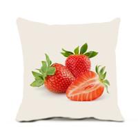 inserção 18 travesseiro venda por atacado-Almofadas Capas de Almofada 18 X 18 Polegadas Pack De 1 Delicioso Fruto Sem Pillow Core Insert