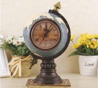 полимерный глобус оптовых-глобус с часами и часы главная смолы ремесло подарок