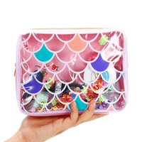Wholesale clear beach bags purse for sale - Group buy Mermaid PVC Cosmetic Bag For Women Waterproof Clear Makeup Bag Portable Toiletry Wash Storage Pouch Beach Jelly Purse for travel