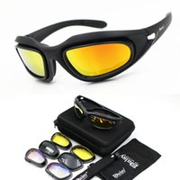 óculos tempestade no deserto venda por atacado-C5 Óculos Polarizados Do Exército Óculos de Sol Ciclismo Óculos de Sol Tempestade no Deserto Guerra Tático Óculos de Proteção Da Motocicleta óculos