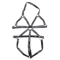productos de bondage femenino al por mayor-Juegos para adultos Cinturón de arnés del cuerpo femenino Cinturón de esclavitud Restricciones del esclavo Productos de juguete BDSM para ella