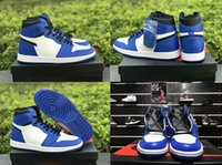 Wholesale royal pc - 2018 High Quality 1 High OG Game Royal Banned Shadow Bred Toe Basketball Shoes Men 1s Backboard Silver Medal Sneakers