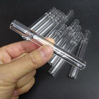 sigara filtresi boruları toptan satış-100mm Cam Tek Hitter Boru 4 Inç Steamroller Parça Cam Filtre İpuçları Taster Temizle Sigara Tutucu Stokta Hızlı Kargo