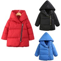 Wholesale coat clearance - Clearance White Duck Down Girl Winter Coat Thick Down jackets Parkas Solid Boys Jacket Baby Kids Gir Outerwear Children Coat