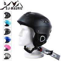 лыжный шлем l оптовых-2018 Стильный лыжный шлем пара безопасности Сноуборд лыжный шлем интегрально формованные дышащий размер M-L скейтборд лыжи