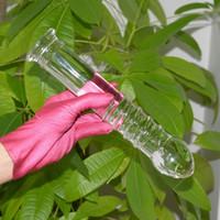 consolador de cristal unisex al por mayor-255 * 50mm Grande Grande Enorme Unisex Vidrio Dildo Hombres Anal Pene de Cristal Pyrex Dick G-spot Mujeres Gay Lesbianas Juguetes Sexuales Producto Erótico D18111304