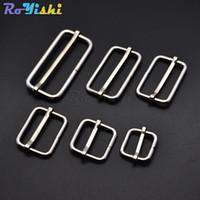 50pcs lot Silver Metal Slides Tri-Glides Wire-Formed Roller Pin Buckles Strap Slider Adjuster Buckles