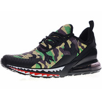 Wholesale half run - 270 Series Heel Half-palm As Men' Running Sports Shoes For Men 270 Jogging Sneakers Trainers Shoe Creative Customized CAMO X Shark Green