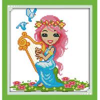 ingrosso croce zodiaco-Il dodici zodiac-virgo Canvas DMC 11ct 14ct contato cinese Cross Stitch Kit stampati a punto croce Set ricamo Needlework