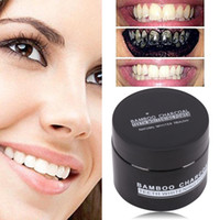 Wholesale organic health - 20g Activated Carbon Teeth Whitening Organic Natural Toothpaste Powder Washed White Teeth Oral Hygiene Dental Health Care