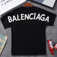 Wholesale patterned knitwear - 2018 Cotton bb Womens Knitwear Classic Pattern Print O-Neck Short Sleeve T-Shirt Mens & Womens Couples Tops Wholesale