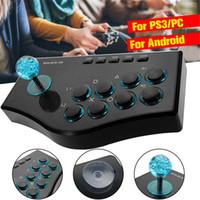 pc arcade joysticks toptan satış-Bilgisayar arcade joystick PC sokak dövüş oyunu denetleyicisi USB gamepad Windows XP Win7 Win8 Win10 için fiş ücretsiz sürücü oyna
