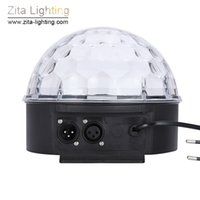 Zita Lighting Mini Crystal Magic Ball Moving Rotating Disco RGB LED Stage Lighting Sounds Control DMX 512 Wedding Dance Party