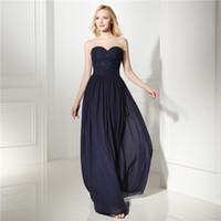 Wholesale Purple Lace Bra Dress - Sweet Dark Blue Bridesmaid Dress Bra Top Lace Sewing Sequin Zipper Lace Lady's Official Dress Evening Gown
