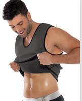 Wholesale Undershirt Men Modal - Men's Thermal Body Shaper Slimming Shirt Mans Neoprene Waist Hot Shapers Slim Vest Slimming Corset Tucker Shaper Undershirt