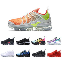 Wholesale cool running shoes - 2018 NEW Vapormax TN Plus Men Women Shoes Triple Black red Cool Grey Running Mens Shoe Trainers Air Designer Fashion Maxes Chaussures Shoes
