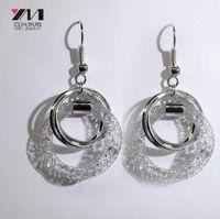 Wholesale New Yami Jewelry Hollow Mesh Fringe Girl Heart Fashion Personality Explosion Earrings Earrings