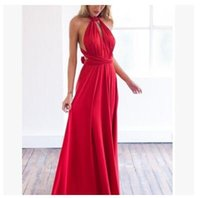 7669a41bb6 Mulheres Sexy Multiway Wrap Convertible Boho Maxi Clube Vestido Vermelho  Bandage Longo Vestido de Festa Damas de Honra Do Infinito Robe Longue Femme