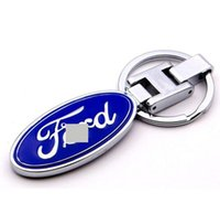 Wholesale keychain logo cars online - 10pcs3D Car logo key Fob Car Keychain Keyring Key Chain Key Ring For Ford Auto Accessories