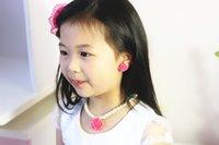 ingrosso braccialetto dell'anello del bambino-Ragazze Bambini Bambino Imitazione Perla Fiore Collana Bracciale Bangle Anello orecchio Clip Bead Jewelry Set Kids Girl Gift