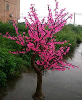 lumières led de fleurs de cerisier achat en gros de-LED arbre de fleur de cerisier 1,5 ~ 2,5 mètres de hauteur simulation simulation naturelle décoration de mariage éclairage festival éclairage jardin décoration