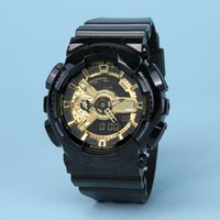 Wholesale camel time - Drop shipping Top Quality Men Women Sports watch Ga110 Digital Watch 48 Time Zone military watch autolight waterproof with box and tags