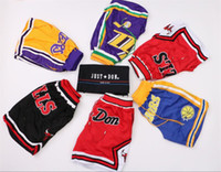 Wholesale camp pants online - Just Don Lebron James Basketball Short Men Fashion warrior buttets pants eastern western all star all teams colors All Stitched Sport shorts