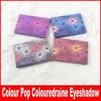 Wholesale eyeshadow smoked - Colour Pop Colouredraine Eyeshadow Palette limited edition LOVELIES  BERRY CUTE  BEAUTY RUST  SMOKE SHOW 6 colors colourpop eye shadow