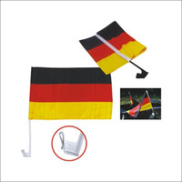Wholesale world cars for sale - 2018 world cup football soccer national team car flag car window clip flag cm double sided Polyester Banner flags