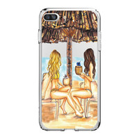 Wholesale Sexy Girl Iphone Cases - For iPhone X 8 7 8PLUS 7PLUS Phone Sexy Girls Pattern Soft Silicon Mobile Phone Bag