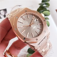 Wholesale brand watches for women gold resale online - Rose Gold A Luxury Watch For Men Women Fashion Stainless Steel Strap Automatic Couple Watches Men Swiss Brand Wristwatch Sapphire Chronogr