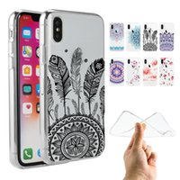 Wholesale Gel Prints - Customized Soft Gel Clear TPU Phone Case Flowers Printed Back Cover 1.4mm High Quality for Xiaomi Huawei Samsung S9 S8 A8