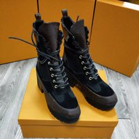 Wholesale Comfortable Boots For Women - 2018 new ladies fashion luxury brands of high quality leather and heavy-duty sole for comfortable and breathable leisure shoes 35~41