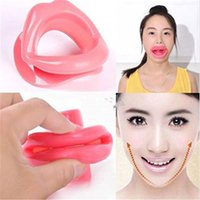 Wholesale lip massager online - Silicone Face Slimmer Smile Corrector Mouth Muscle Anti Wrinkle Beauty Facial Massager Lip Muscle Trainer Tightener Maquiagem AAA1295