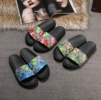 ingrosso pantofole della caviglia-Con Box 2018 Slides Summer Luxury Designer Beach Indoor Flat G Sandali Slippers House Infradito con sandalo Spike