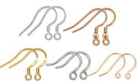 ganchos de pesca chapados en oro al por mayor-Hot Sterling 925 Silver Earring Sterling Silver Ear Hook Accesorios chapado en oro Sterling Silver Accessories Fish Hook Fit Pendientes D0123